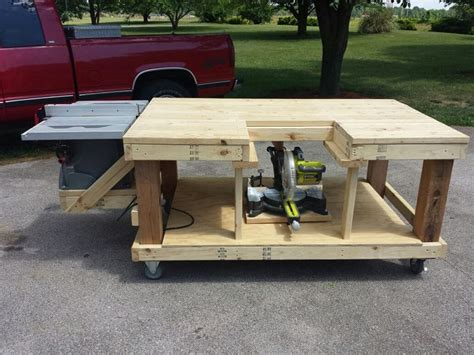how to make a table saw bench 1000 ideas about miter saw table on pinterest workshop