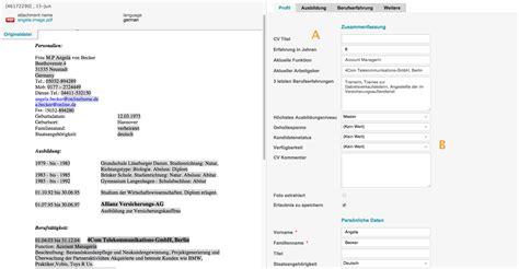 Cv Versus Lebenslauf Mehrsprachige Cv Parsing Software