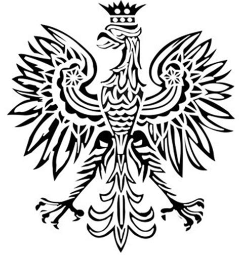 polish eagle coloring page how to draw polish eagle