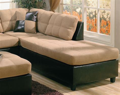 microfiber and faux leather sectional sofa tan microfiber sectional sofa home the honoroak