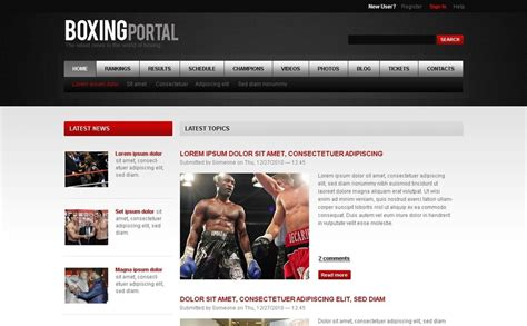 drupal themes zip boxing drupal template 32834
