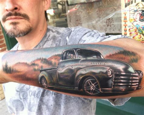 chevy tattoos 54 chevy by johnny smith tattoonow