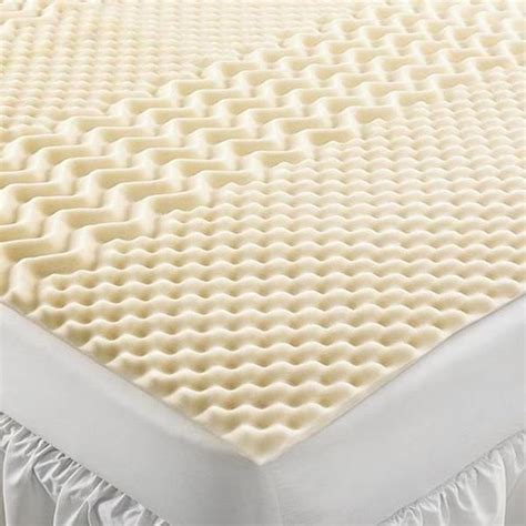 Foam Mattress Pad by Home Design Visco 5 Zone Foam Mattress Pad New Ebay