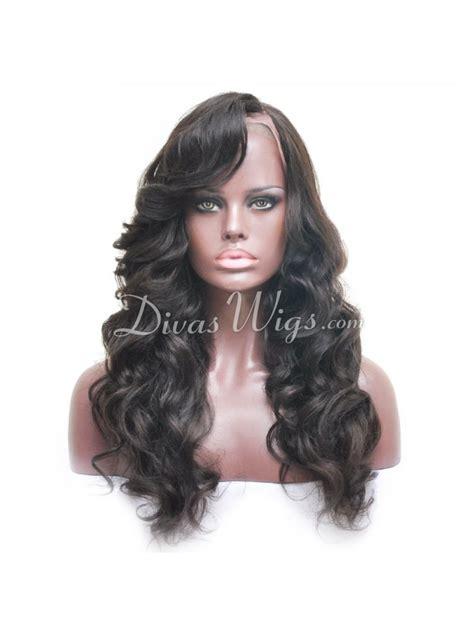 and wavy human hair natural black wavy full lace human hair wig sst868