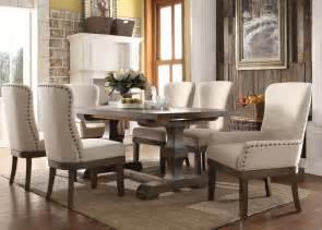 acme dining room sets 9 acme landon rustic dining set