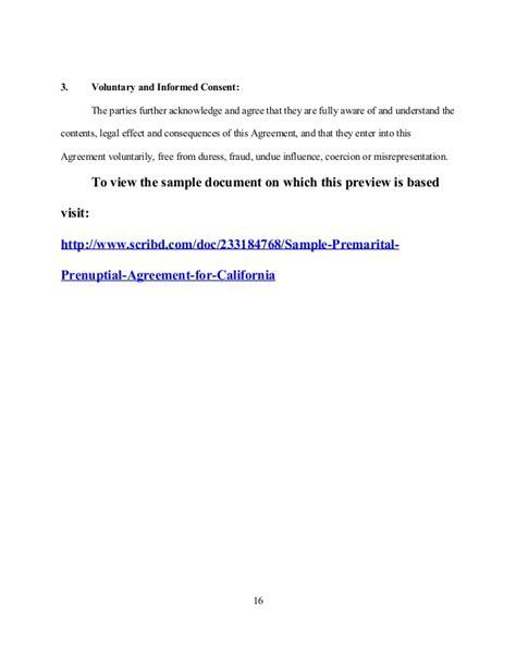Voluntary Child Support Letter Sle Sle Premarital Prenuptial Agreement For California