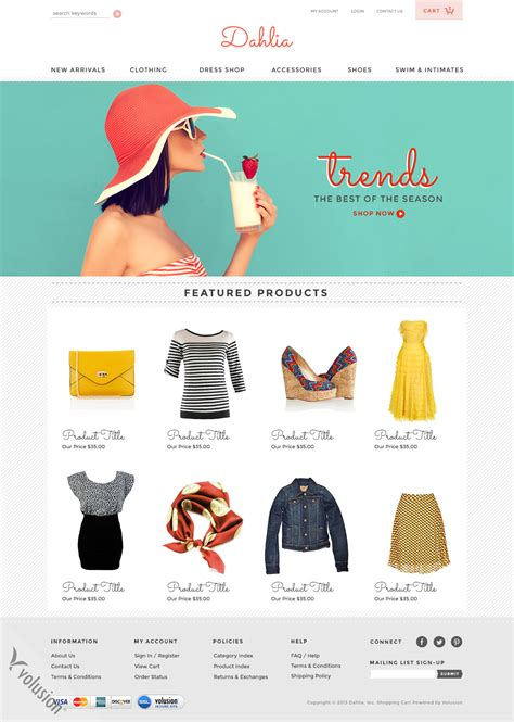 volusion free templates dahlia ecommerce templates by volusion seo friendly