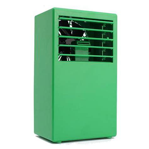mini portable air conditioner desktop table cooling fan mist spray tou