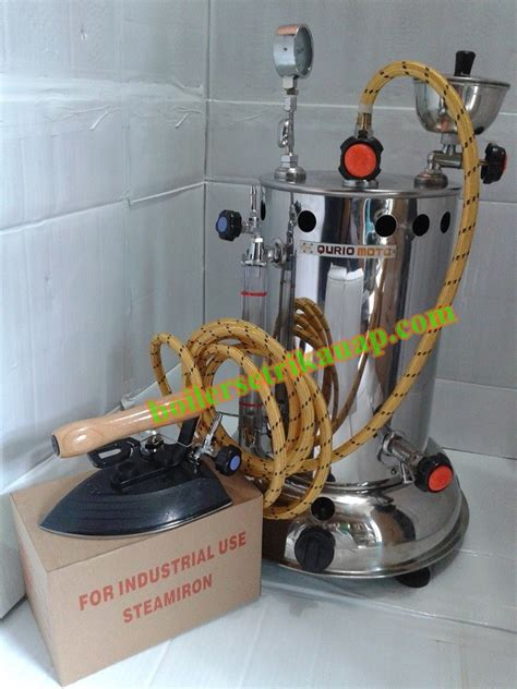 Setrika Uap Boiler Gas Quriomoto quriomoto kapasitas 10 liter kembar jaya