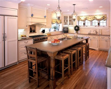 New Kitchen Island New York Kitchen Islands With Traditional Wood Floor Pendant Lights