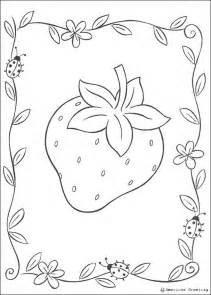 strawberry coloring page big strawberry coloring pages hellokids
