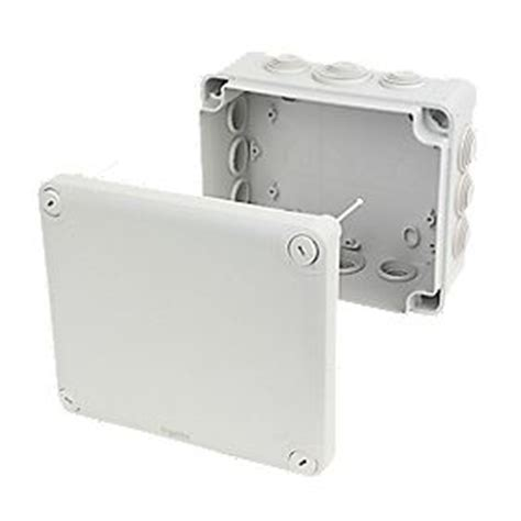 Pandora 195 Mm Grey 1 schneider electric 12 entry junction box with knockouts grey 195 x 165 x 90mm junction boxes