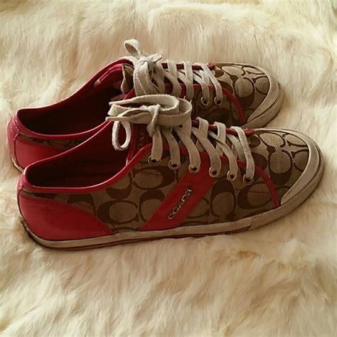 pink coach sneakers 65 coach shoes pink khaki coach sneakers size 8 5