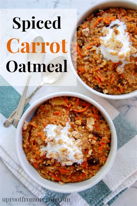Green Smoothie Detox Breakfast Recipe Apple Carrot Oat Muffins by Spiced Carrot Oatmeal With Apples And Raisins