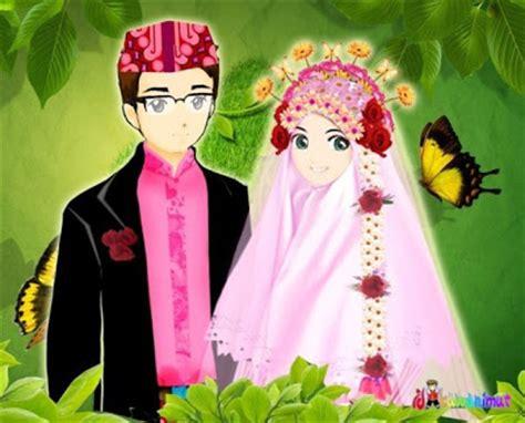 Animasi Pernikahan Islami by Kumpulan Koleksi Wallpaper Kartun Pernikahan