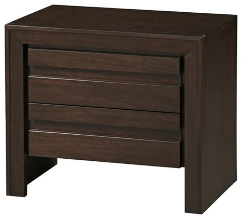 bedside table charging station element nightstand in chocolate brown transitional nightstands and bedside tables by modus
