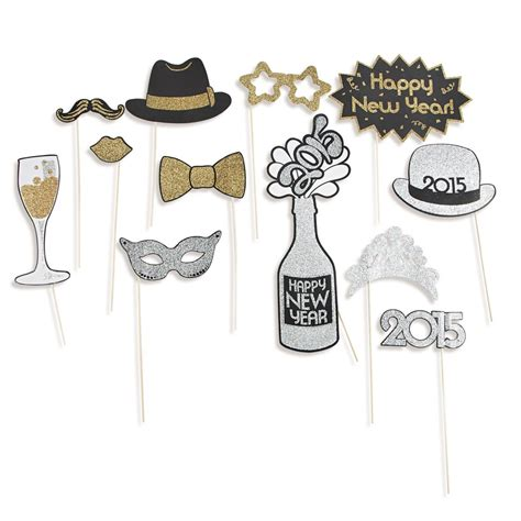 new year photo props new year s photo stick props