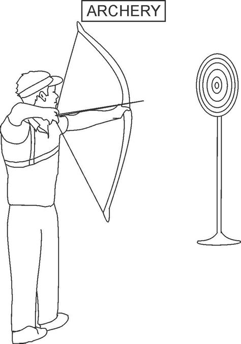 crossbow coloring page 12 archery coloring pages print color craft