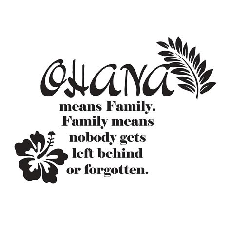 tattoo that means family stitch quot ohana means family family means nobody gets left
