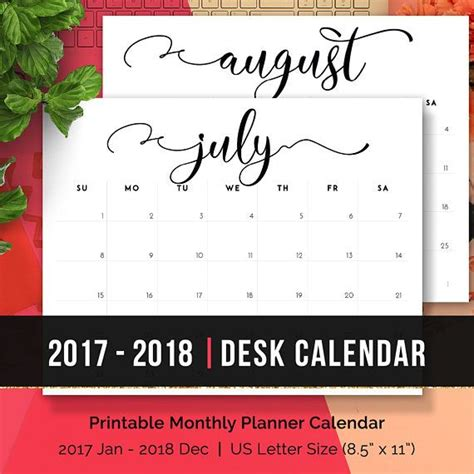 Desk Planner 2017 Printable