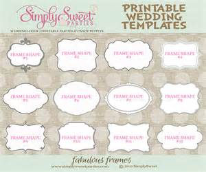 wedding souvenir tags template 9 best images of printable wedding templates favor free