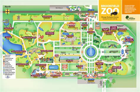 zoo map brookfield zoo map my