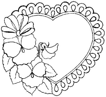 coloring pages of heart flowers free printable heart coloring pages for kids