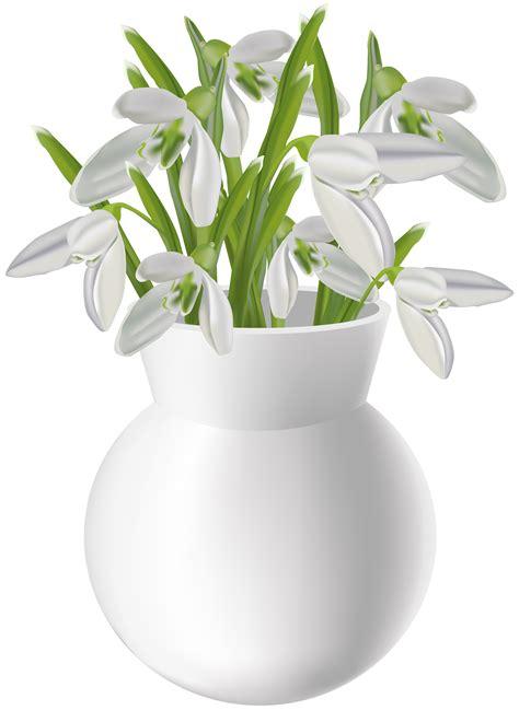Art Deco Glass Vases Vase With Snowdrops Transparent Png Clip Art Image