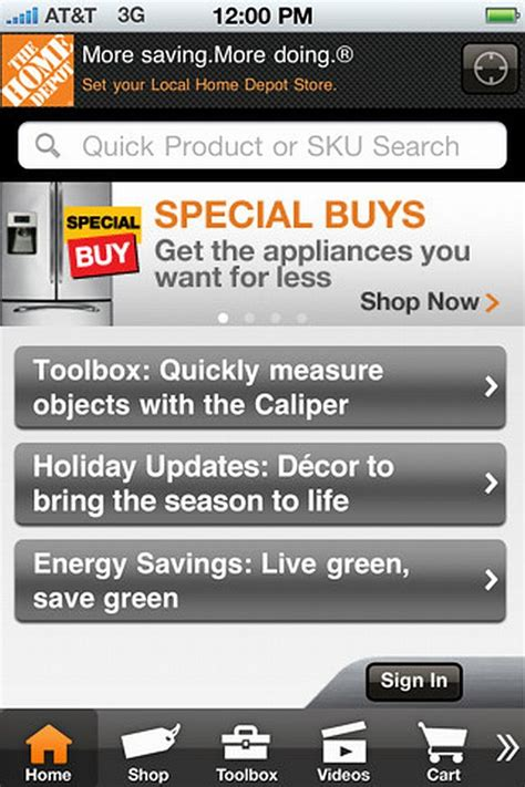the home depot unveils improved iphone app