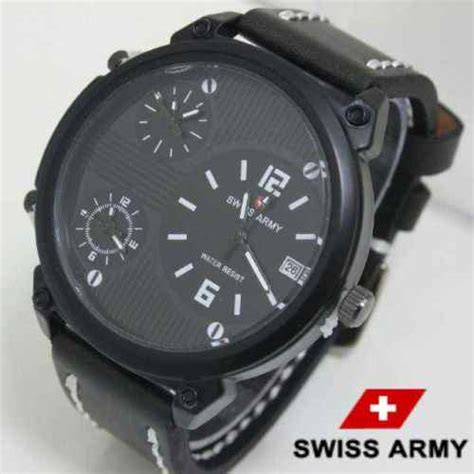 Jam Tangan Swiss Army 3 Time jam tangan swiss army time zone murah