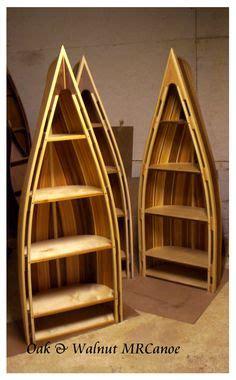 rustic boat bookshelf 1000 images about rustic cedar strip bookcase canoe on