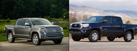 toyota tacoma vs tundra difference between tundra models autos post