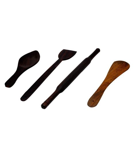 Spatula Roti 4pc wooden taveta belan spatula rice spoon combo buy