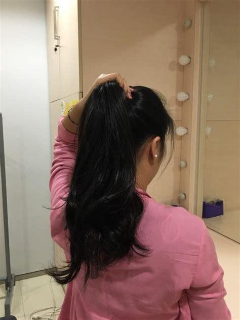 cara catok rambut badai rambut indah bervolume tanpa blow hanya dengan jepitan