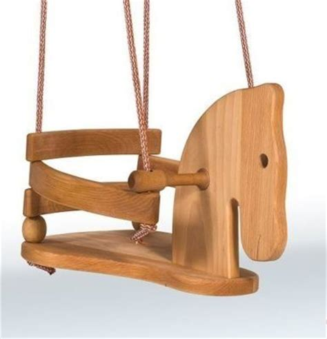 horse tree swing wooden horse swing for baby toddler handcrafted beech wood