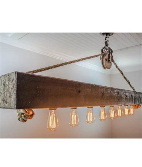 chandelier pulley rustic wood beam chandelier with edison bulbs rope and pulley