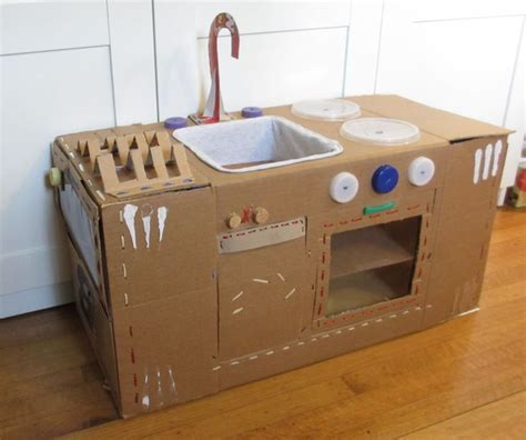 Cardboard Kitchen by That Same Playhouse That S Been Pinned Constantly