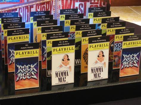 Broadway Home Decor Playbill Seating Cards Broadway Themed Bat Mitzvah Pinterest Cards