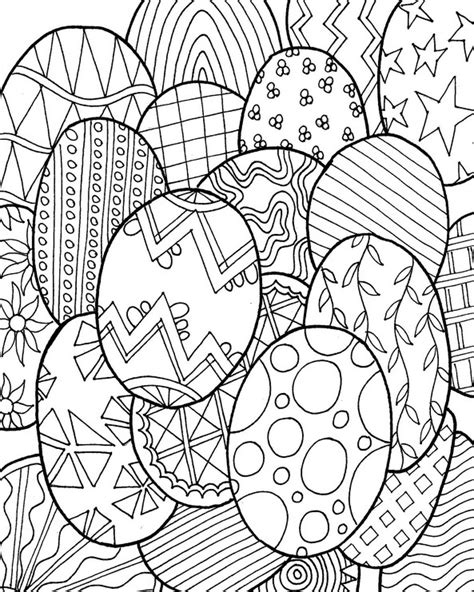 printable spring coloring pages for adults adult coloring page easter easter eggs 3