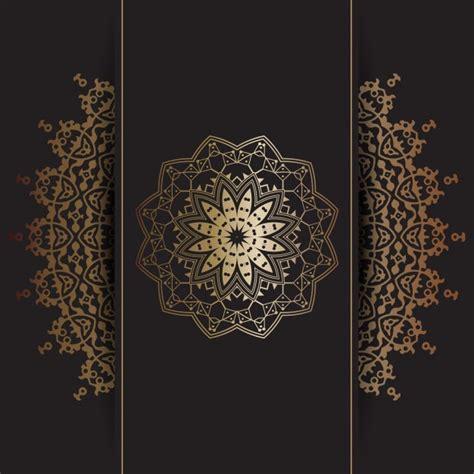 decorative design psd decorative background with gold mandala design vector