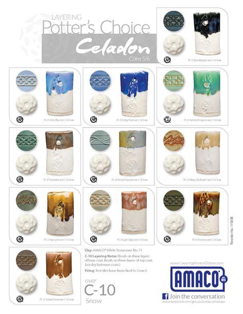 amaco underglazes c celadon high glazes glazes underglazes