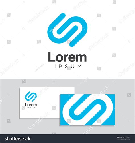 Logo Design Elements Business Card Template Stock Vector 321225026 Shutterstock Vector Company Logo Element Template