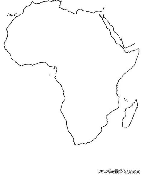 coloring page africa africa map coloring pages hellokids