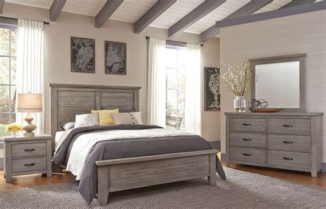 Weathered Bedroom Set by Cassel Park Weathered Gray Plank Bedroom Set From Virginia