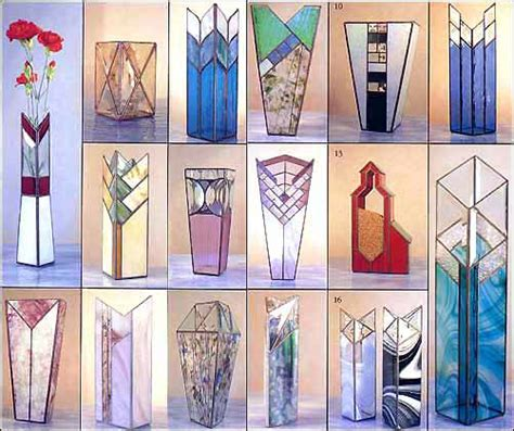 Stained Glass Vase Patterns by Distinctive Vases Stained Glass Pattern Book