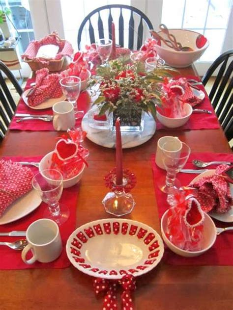 valentine table decoration crafts