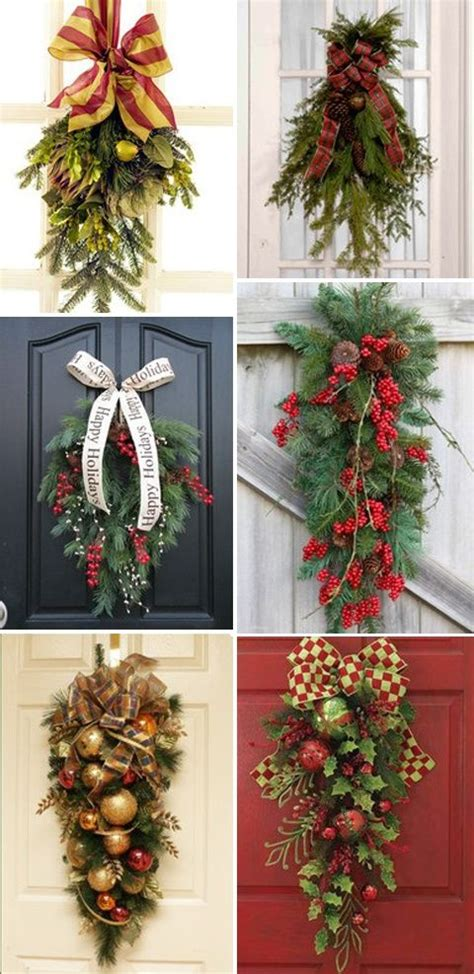 christmas swags for the door christmas ideas pinterest