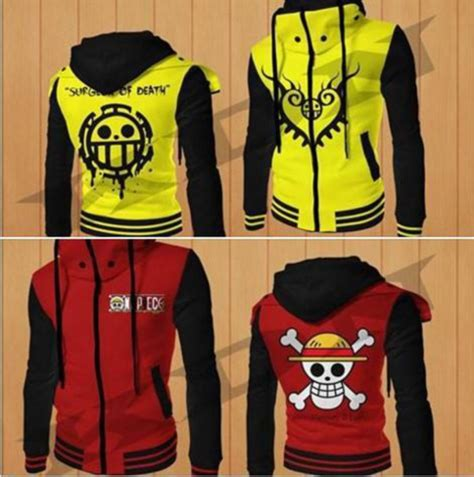 Sweater One Luffy jacket one one anime jacket luffy trafalgar anime hoodie