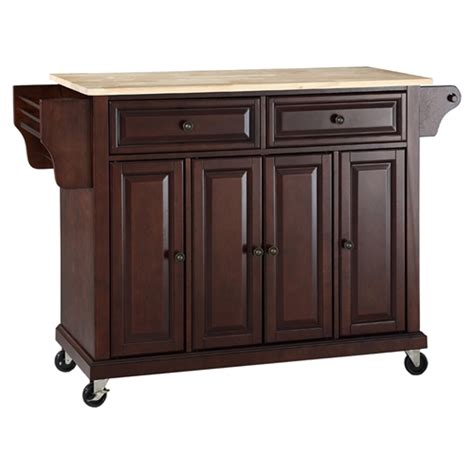 kitchen island with casters wood top kitchen cart island casters vintage mahogany dcg stores