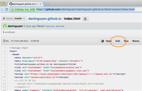 github tutorial online clone edit commit and sync